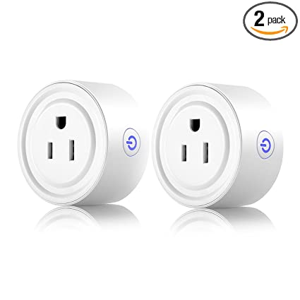 Smart Plug 2 Pack Wi Fi Enabled Mini Smart Socket Compatible With