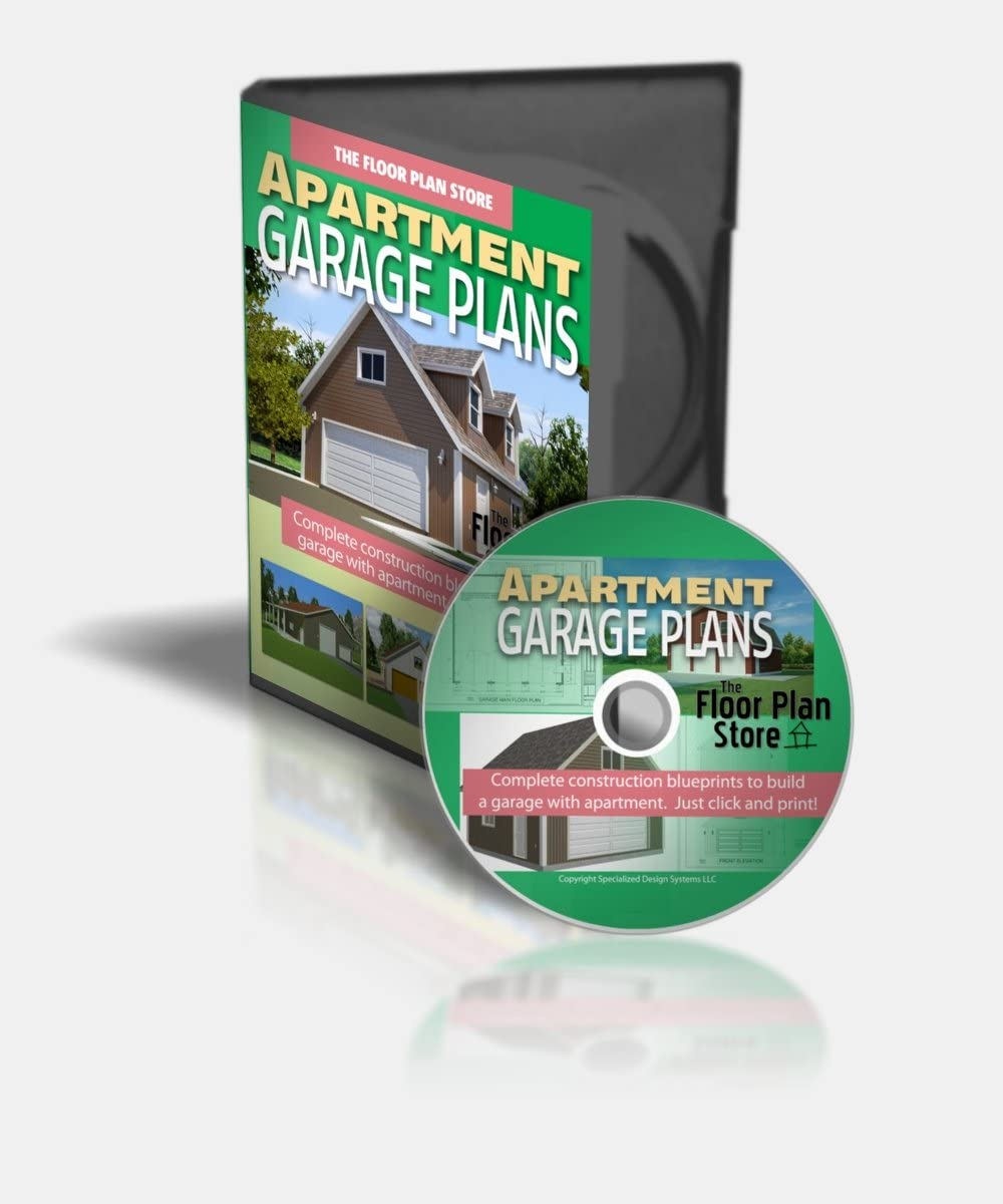 25 Complete Apartment Garage Plans In Pdf On Cd Woodworking Project Plans Amazon Com
