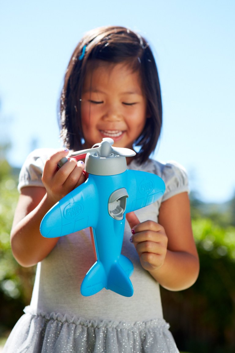 Amazon.com: Green Toys Airplane - BPA, Phthalates Free, Blue Air ...