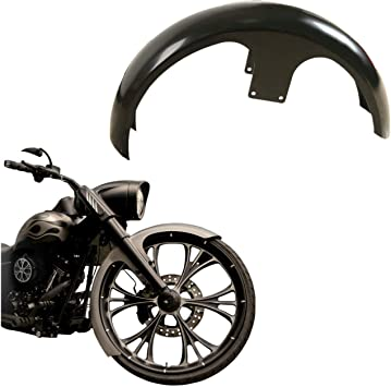 """Unpainted 21/"""" Wrap Front Fender For Harley Road King Street Electra Glide Bagger"""