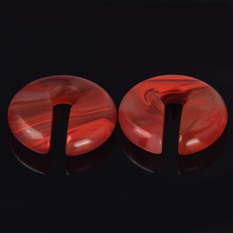 Cats Eye Agate Opalite Hoop Stone Large Keyhole Stone Ear Stretchers Gauge 2g 0g 00g Yingrunshangmao Co.Ltd Yrset18hsp08