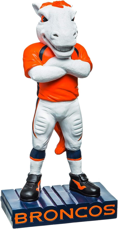 Team Sports America NFL Denver Broncos Fun Colorful Mascot Statue 12 Inches Tall