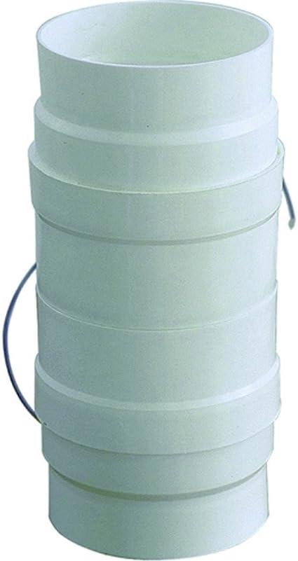 Aspiratore D 100 120 Per Aerazione Canalizzata Cappa Cucina In Pvc Colore Bianco Amazon It Fai Da Te