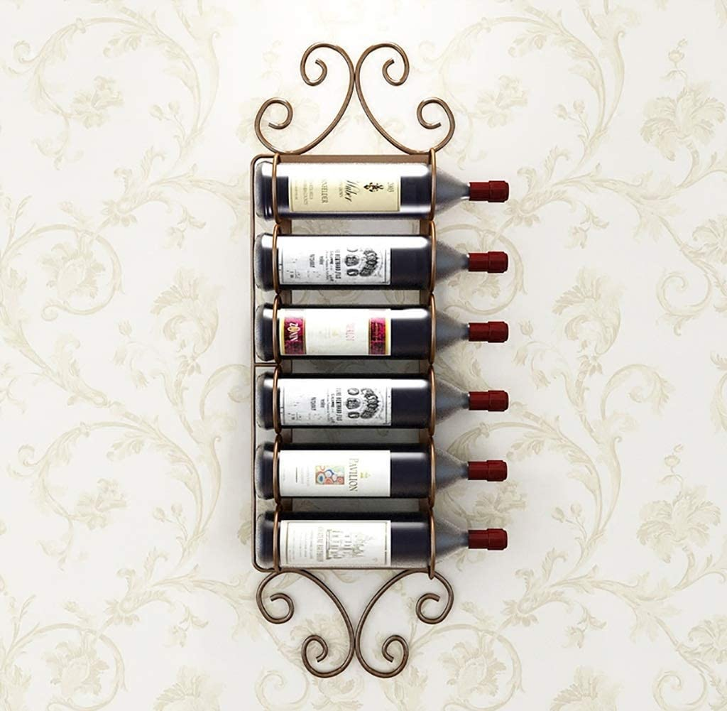 XHCP Wine Rack Bottle Wine Racks Wine Rack Iron Hanging Wall Hanger Home bar Fashion Simple Wine Glass Holder (Color : A, Size : 84x22cm)