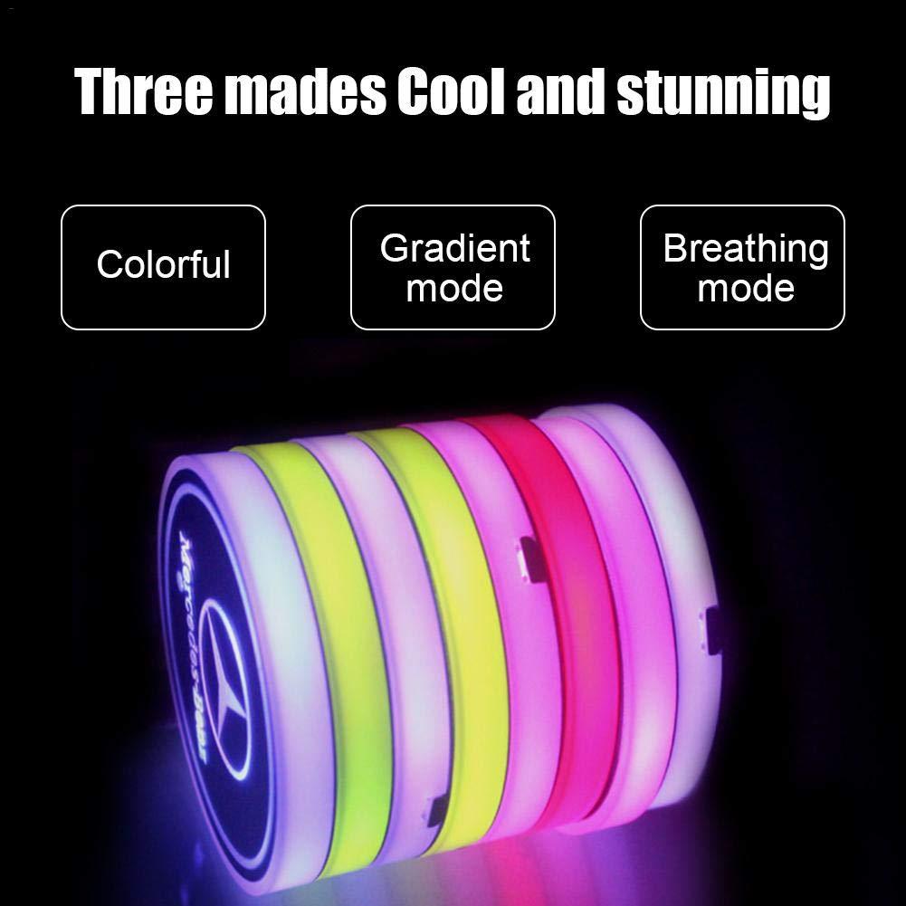 Sottobicchiere a LED per Auto a induzione Automatica Antiscivolo con Tappetino di Ricarica a LED Beaviety