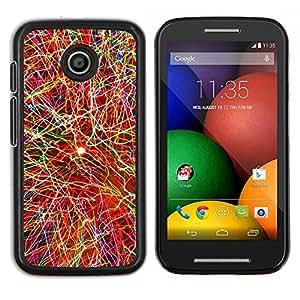 Qstar Arte & diseño plástico duro Fundas Cover Cubre Hard Case Cover para Motorola Moto E (Explosión de color)