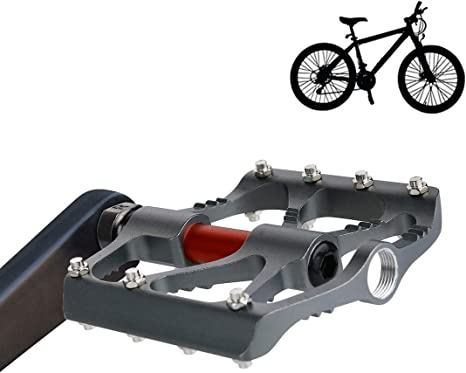 Fenghezhanouzhou Accesorios para Bicicletas B068 Plataforma Aleación de Aluminio Pedales CNC Acero Eje 9/16 Pulgadas para Bicicleta MTB BMX 1 par (Color : Grey): Amazon.es: Deportes y aire libre