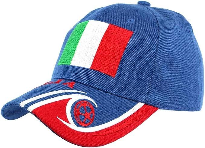 País-Gorra, diseño de equipo de fútbol para hombre y mujer Azul ...