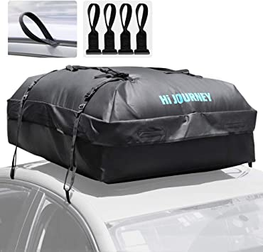 18 Cubic Feet Car Roof Bag with Protective Car Roof Mat /& Storage Bag 1000D Waterproof Rooftop Cargo Carrier Heavy Duty Roofbag Excellent Military Quality Bag Fits All Cars with//Without Rack