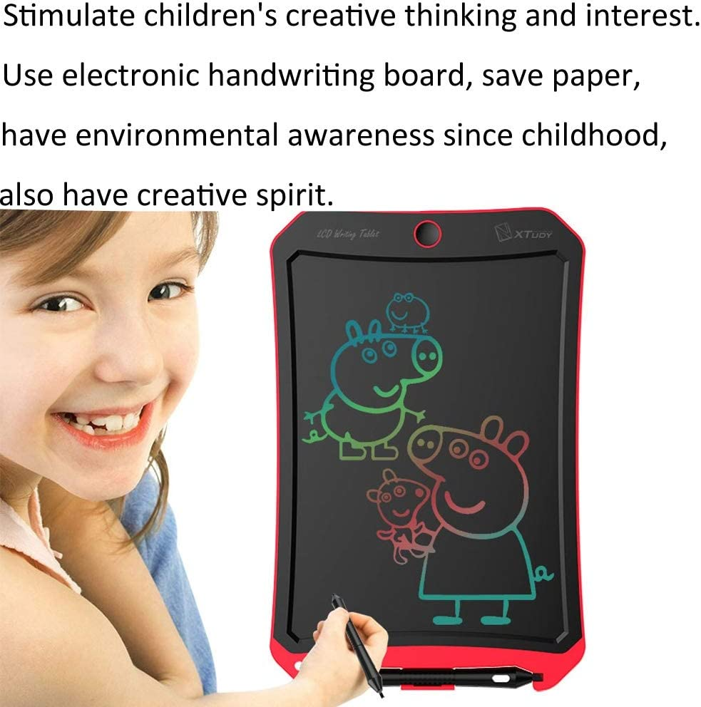 MEETBE ZIMO,WP9309 8.5 inch LCD Color Screen Writing Tablet Handwriting Drawing Sketching Graffiti Scribble Doodle Board for Home Office Writing Drawing Color : Pink Orange