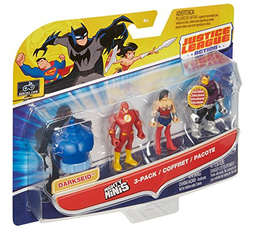 61rzUyp EUL DC Justice League Action Mighty Minis Wonder Woman, The Flash, & Mongul Mini Figures, 3 Pack