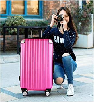 Color Aishanghuayi Suitcase for Stylish Men and Women Boarding Lock Boxes 34 22 55 Size Color : Silver, Size : 161024 inch Black cm
