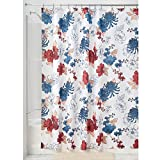 InterDesign Cottage Floral Fabric Shower Curtain - 72' x 72' ; Red/Blue