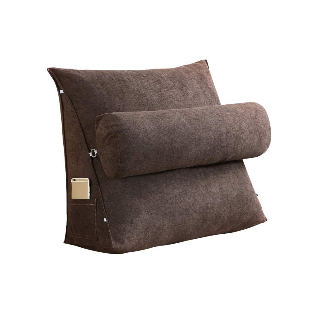 DUHUI Bed Wedge, Wedge für Schlafzimmer, Wohnzimmer und Schlafzimmer, für Sleeping Wedge, um die Wirbelsäule zu entlasten Pill Stillkissen fürs Liegen und Sitzen (Farbe   Khaki, größe   60x50x20cm) dc0911