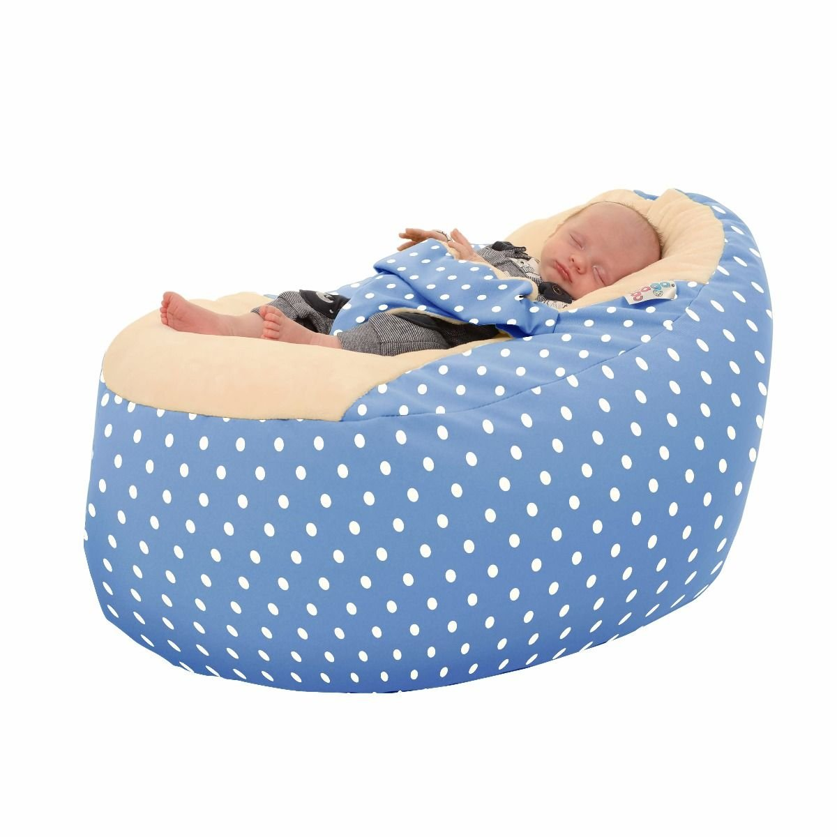 Polka Dot Gaga+ Baby to Junior Beanbag (Baby Pink) rucomfy Bean bags