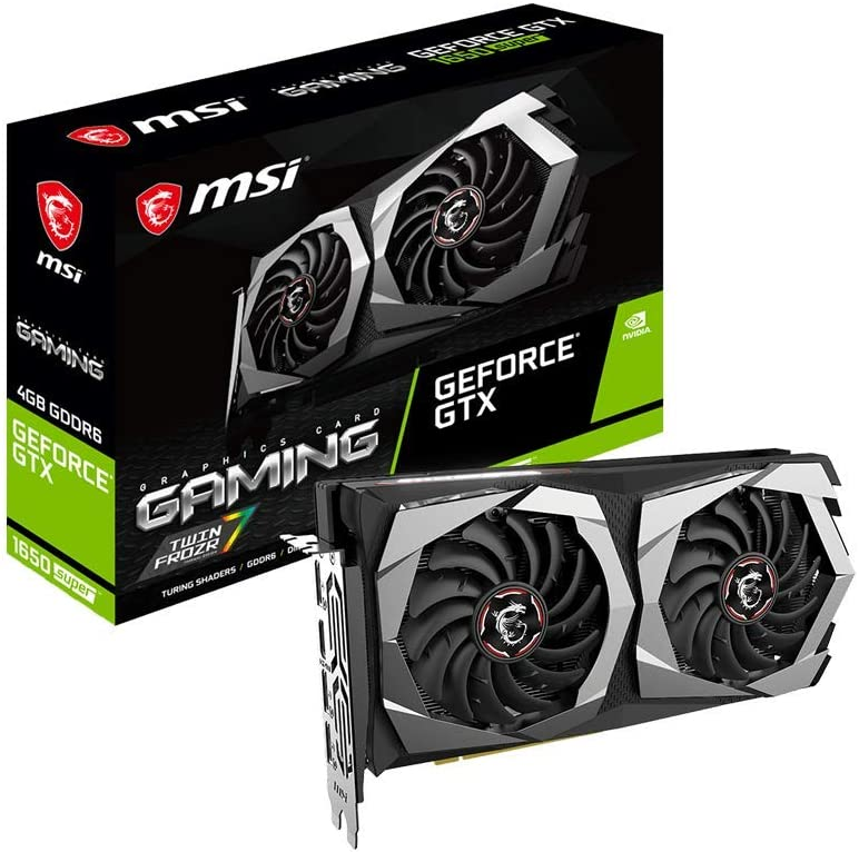 MSI Gaming GeForce GTX 1650 Super 128-Bit HDMI/DP 4GB GDRR6 HDCP Support DirectX 12 Dual Fan VR Ready OC Graphics Card (GTX 1650 Super Gaming X)