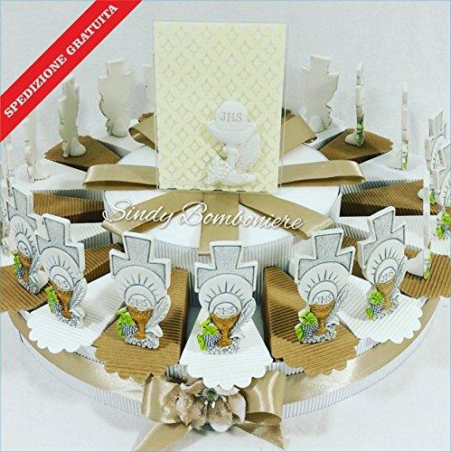 Idee Bonboniere-Kommunion Junge Mädchen Kuchen Kruzifix Torta da da da 35 fette aa23d7