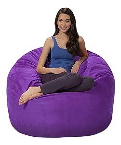 """Comfy Snacks 4"""" Memory Foam Bean Bag Chair"""