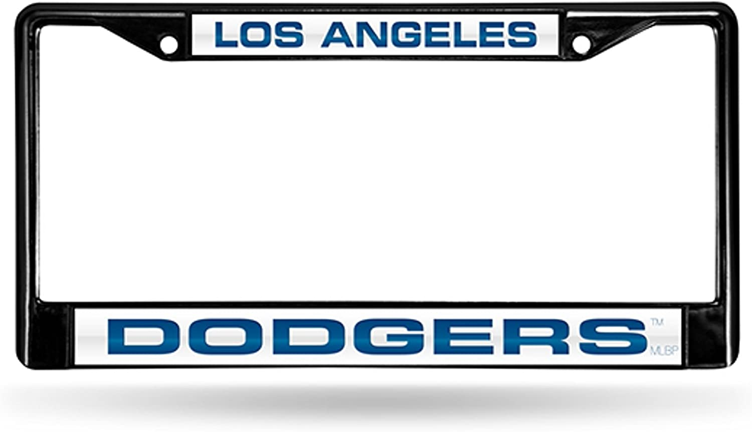 Rico Industries Los Angeles Dodgers Black Laser Frame Chrome Metal License Plate Cover Tag Baseball