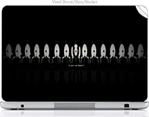 Laptop VINYL DECAL Sticker Skin Print Is Anyone There Portal Turret Art fits XPS M140