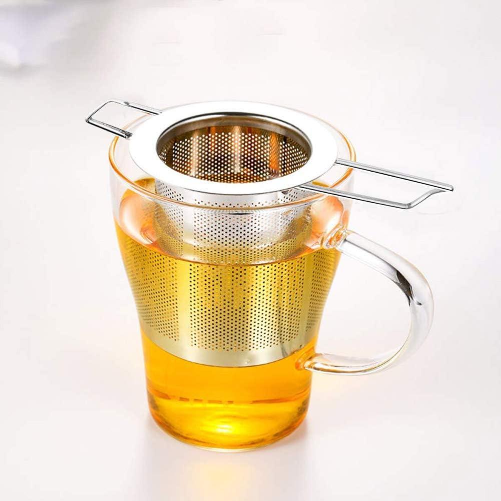 Tazas y Macetas para Tazas de T/é de Grano Suelto Yuciya Colador de t/é Colador de T/é de Acero Inoxidable con Mango