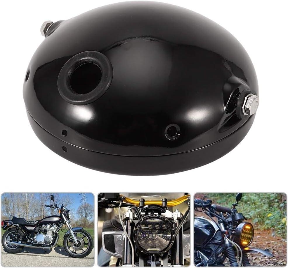 KSTE 7 Inch Aluminum Motorcycle Modification LED Headlight Head Lamp Housing Cover black