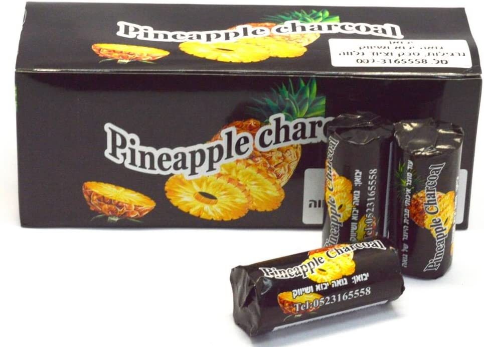 PINEAPPLE Charcoal 120 Pcs Tabs Coal Easy Lighting Shisha Hookah With Hole
