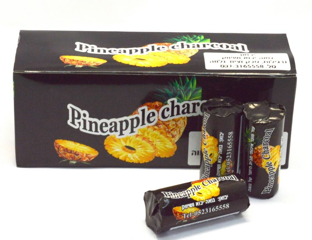 PINEAPPLE Charcoal 120 Pcs Tabs Coal Easy Lighting Shisha Hookah With Hole Mystica-Goa