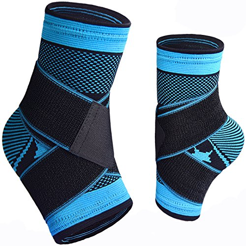 Plantar Fasciitis Sock with Arch Support, Eases Swelling, Achilles tendon & Ankle Brace Sleeve with Compression Effective Joint Pain Foot Pain Relief from Heel Spurs -