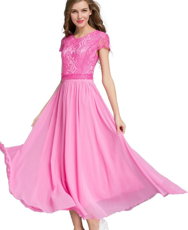 Minetom Damen Kleid Hochzeit Kleider Abendkleid ...