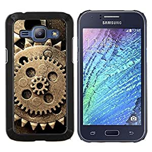 - OLD RETRO COG VINTAGE RUSTIC WHEEL - Caja del tel¨¦fono delgado Guardia Armor- For Samsung Galaxy J1 J100 J100H Devil Case