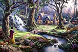 Snow white Canvas Oil Painting Prints Gorgeous Natural Scenery Landscape Picture for Wall Decoration, 20x16 Inches