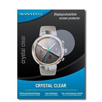 2 x SWIDO® Protector de pantalla Asus Zenwatch 3 WI503Q ...
