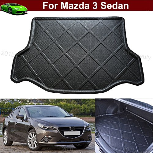 Car Mat Car Boot Pad Carpet Cargo Mat Trunk Liner Tray Cargo Cover Floor Mat for Mazda 3 Sedan 2014 2015 2016 2017 2018 TianTian Auto Part Co. Ltd