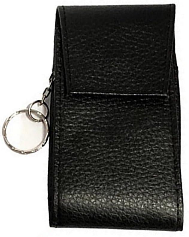 Porte-cl/és Fait en Cuir Noir Carte Visite LOLUNA/® Pochette Badge Refermant avec Rabat et Carte bancaire /à larri/ère
