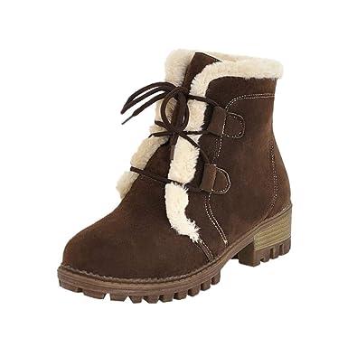Botines cuña para Mujer Otoño Invierno 2018 Moda PAOLIAN Botas Terciopelo Botines Militares tacón Altas Zapatos Señora Calzado Dama Botas de Nieve clásicas ...