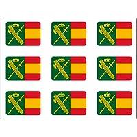 Artimagen Pegatina rectángulos Bandera con Logo Guardia Civil