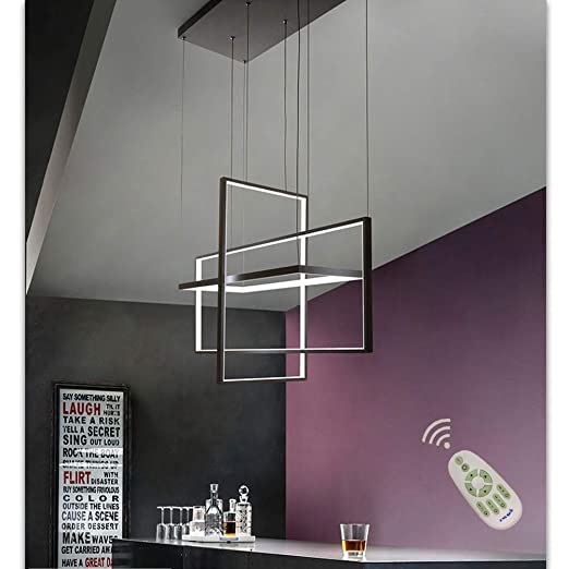 Araña de luces Lámpara de techo LED regulable altura lámpara ...