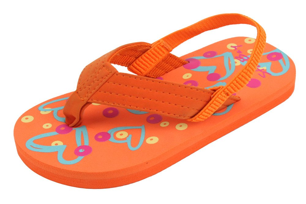 Brand New Toddlers Thong-Style Orange Sandals Size 9