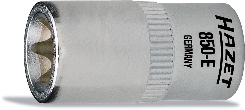 HAZET 850-E10 25 mm E 10 Torx Profile Socket - Chrome-Plated/Polished