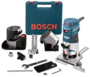 Bosch PR20EVSNK Colt Installers Kit 5.7 Amp 1 Hp Fixed-Base Variable-Speed Router with 3 Assorted Bases and Edge Guide