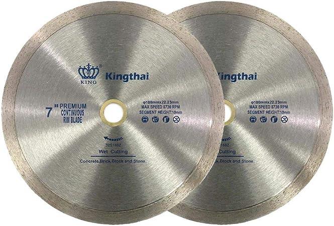 """5"""" Premium Wet Dry Cutting Continuous Rim Tile Diamond Saw Blade"""