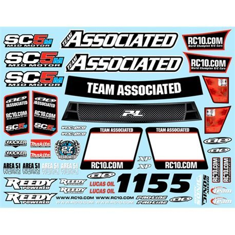 Associated Decal Sheet SC5M ASC71036 by Associated