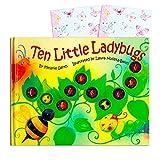 Ten Little Ladybugs Board Book Set for Kids