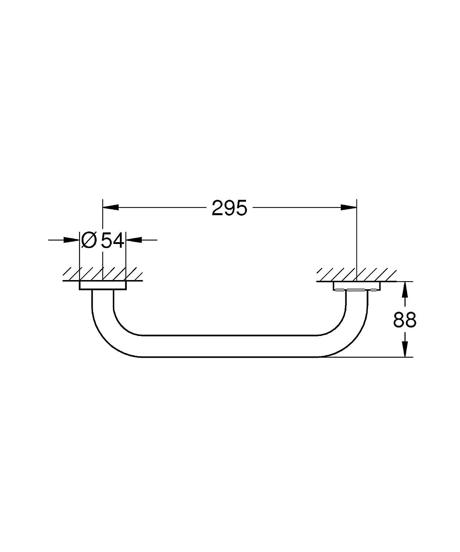 Grohe Essentials - Asidero de bañera Redondo 300 mm Ref. 40421001: Amazon.es: Hogar