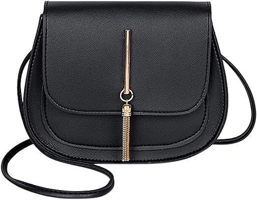 Ladies Small Cross Over Body Bag Shoulder Tassel Handbag Purse Women Messenger