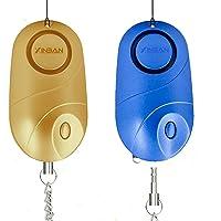 2個防犯ブザー140デシベルLEDライト付き懐中電灯警報ブザー、ベビーベッド、防犯ブザー犯罪予防子供 女性 高齢者のため