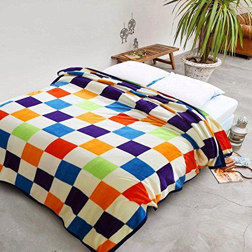 Znzbzt Cute cartoon blanket thick flannel sheets warm winter blanket coral fleece blanket ,200cmx230cm [single-health, childhood memories by Znzbzt (Image #1)