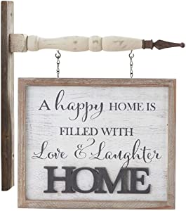 K&K Interiors 15062A-AR2 2 Sided White Washed Home Arrow Replacement