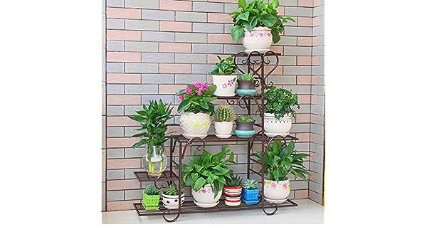 Asnvvbhz Metal Macetero Soporte para plantas Soporte para piso ...